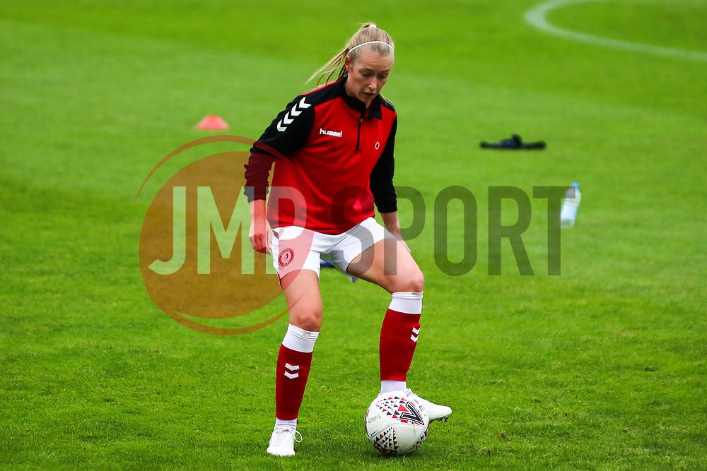 Flo Allen of Bristol City Women during warm-up - Mandatory by-line: Will Cooper/JMP - 18/10/2020 - FOOTBALL - Twerton Park - Bath, England - Bristol City Women v Birmingham City Women - Barclays FA Women's Super League