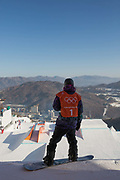 Marcus Kleveland from Norway during the snowboard slopestyle practice on the 7th February 2018 at Phoenix Snow Park for the Pyeongchang 2018 Winter Olympics in South Korea