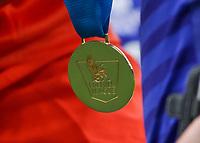 Football - 2014 / 2015 Premier League - Chelsea vs. Sunderland.   <br /> <br /> Premier League Winners medal at Stamford Bridge. <br /> <br /> COLORSPORT/DANIEL BEARHAM