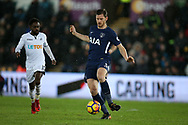 Jan Vertonghen of Tottenham Hotspur in action.Premier league match, Swansea city v Tottenham Hotspur at the Liberty Stadium in Swansea, South Wales on Tuesday 2nd January 2018. <br /> pic by  Andrew Orchard, Andrew Orchard sports photography.