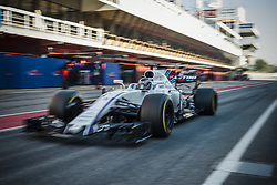 March 10, 2017 - Montmelo, Catalonia, Spain - LANCE STROLL (CAN) drives in his Williams Mercedes FW40 in the pit lane at day 8 of Formula One testing at Circuit de Catalunya (Credit Image: © Matthias Oesterle via ZUMA Wire)