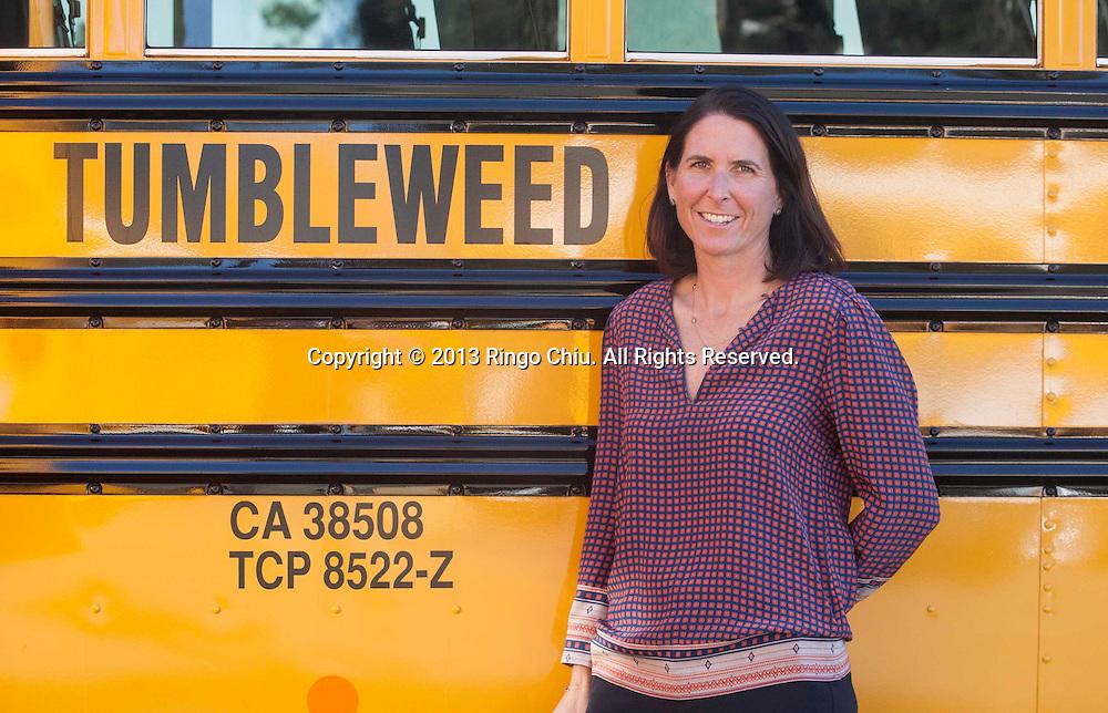 Erin Benfield, owner of Tumbleweed bus company. (Photo by Ringo Chiu/PHOTOFORMULA.com)