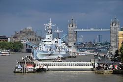 HMS Belfast & Tower Bridge, London UK July 2016