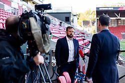 Bristol City CEO Mark Ashton is interviewed on Sky Sports before the game - Rogan/JMP - 24/09/2020 - Ashton Gate Stadium - Bristol, England - Bristol City v Aston Villa - Carabao Cup Third Round.