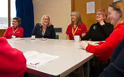 Pictured: Equalities Minister Christina McKelvie, Vivian Wallace, Aging well co-ordinator for Midlothian, and Christine Grahame met with volunteers<br />