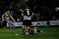 Photo: Steve Bond.<br />Notts County v Hereford United. Coca Cola League 2. 02/10/2007. Ben Smith lets fly for the first goal