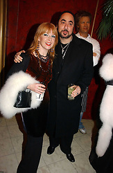 TOYAH WILCOX and DAVID GUEST at Andy & Patti Wong's annual Chinese New year Party, this year to celebrate the Year of The Pig, held at Madame Tussauds, Marylebone Road, London on 27th January 2007.<br /><br />NON EXCLUSIVE - WORLD RIGHTS