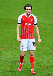 Finn Azaz of Cheltenham Town- Mandatory by-line: Nizaam Jones/JMP - 20/02/2021 - FOOTBALL - Jonny-Rocks Stadium - Cheltenham, England - Cheltenham Town v Bradford City - Sky Bet League Two