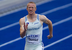 Matic Osovnikar  of Slovenia competes in the men's 100m qualifying event of the 2009 IAAF Athletics World Championships on August 15, 2009 in Berlin, Germany. (Photo by Vid Ponikvar / Sportida)