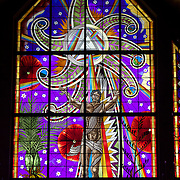 The stained glass windows at The Cathedral of the Holy Trinity,  Parnell Road, Auckland, New Zealand, 5th November 2010. Photo Tim Clayton.