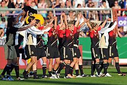 03.06.2011, Osnatel Arena, Osnabrueck, GER, WM 2012 FSP, Deutschland (GER) vs. Italien (ITA), im Bild Jubel Deutschland nach dem Sieg // during the WM 2012 Friendly Game, Germany vs Italy, at Osnatel Arena, Osnabrück, 2010-06-03, EXPA Pictures © 2011, PhotoCredit: EXPA/ nph/  Kurth       ****** out of GER / SWE / CRO  / BEL ******