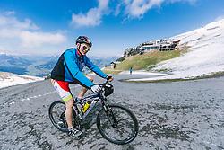 05.05.2016, Kitzbuehler Horn, Kitzbuehel, AUT, OeSV, Skisprung, Lehrgang Mountainbike Tour, im Bild Philipp Aschenwald (AUT) // Philipp Aschenwald of Austria during a mountain bike ride of the Austrian ski jumping Team at the Kistbuehler Horn, Kitzbuehel, Austria on 2016/05/05. EXPA Pictures © 2016, PhotoCredit: EXPA/ JFK