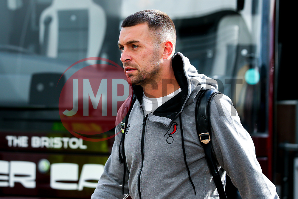 Jack Hunt of Bristol City arrives at Pride Park for the Sky Bet Championship fixture against Derby County - Mandatory by-line: Robbie Stephenson/JMP - 20/08/2019 - FOOTBALL - Pride Park Stadium - Derby, England - Derby County v Bristol City - Sky Bet Championship