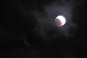 On June 15th 2011 a full moon eclipse was visible. Photographed in Haifa, Israel