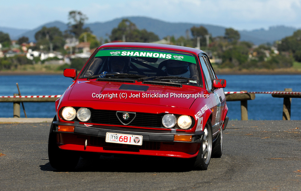 #681 - Ian Morris & Alex Molocznyk - 1981 Alfa Romeo GTV6.Prologue.George Town.Targa Tasmania 2010.27th of April 2010.(C) Joel Strickland Photographics.Use information: This image is intended for Editorial use only (e.g. news or commentary, print or electronic). Any commercial or promotional use requires additional clearance.