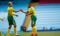 Football - 2019 / 2020 Premier League - Manchester City vs Norwich City<br /> <br /> Onel Hernandez of Norwich City celebrates but goal is ruled offside at the Etihad Stadium.<br /> <br /> COLORSPORT/LYNNE CAMERON