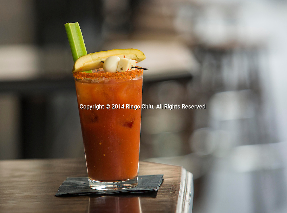 LOS ANGELESE, CA - MAY 25, 2014: Cole's regular Bloody Mary. (Photo by Ringo H.W. Chiu / For The Times)(Photo by Ringo Chiu/PHOTOFORMULA.com)