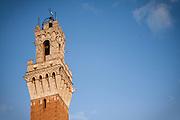 Torre del Mangia, Piaaza del Campo, Siena, Tuscany, Italy.