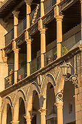 Building exterior with arches and columns, Ronda, Andalusia, Spain