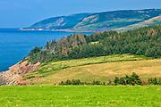 Cabot Trail. Cape Breton Island. Appalachian Mountain chain.  <br />Mabou<br />Nova Scotia<br />Canada