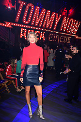 Arizona Muse during the Tommy Hilfiger Front row during London Fashion Week SS18 held at Roundhouse, Chalk Farm Rd, London. Picture Date: Tuesday 19 September. Photo credit should read: Ian West/PA Wire