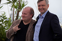 Actor Boris Kamorzin and Director Sergei Loznitsa at the Donbass film photo call at the 71st Cannes Film Festival, Wednesday 9th May 2018, Cannes, France. Photo credit: Doreen Kennedy
