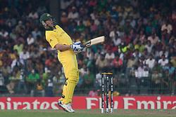©London News Pictures. 19/03/2011.Brett Lee dodges a quick bouncer from Umar Gul at R.Premadasa Stadium Colombo Sri Lanka