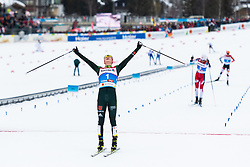 February 22, 2019 - Seefeld In Tirol, AUSTRIA - 190222 Eric Frenzel of Germany celebrates after winning the men's nordic combined 10 km Individual Gundersen during the FIS Nordic World Ski Championships on February 22, 2019 in Seefeld in Tirol..Photo: Joel Marklund / BILDBYRÃ…N / kod JM / 87882 (Credit Image: © Joel Marklund/Bildbyran via ZUMA Press)