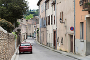 near empty town street during the Covid 19 crisis and lockdown France Limoux April 2020