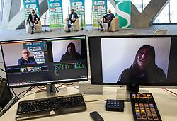 Katarina Srebotnik during press conference of Tenis Slovenija when presented WTA Portoroz 2021 tournament, on February 18, 2021 in Kristalna palaca, Ljubljana, Slovenia. Photo by Vid Ponikvar / Sportida
