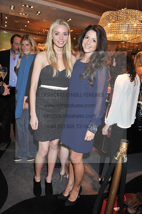 Left to right, NOELLE RENO and SHIRLEY LEIGH-WOOD OAKES at a private view of an exhibition 'Outside in Chelsea' held at Annoushka, 41 Cadogan Gardens, London SW3 on 2nd October 2012.