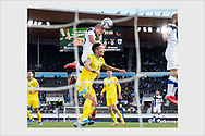 Finland forward Joel Pohjanpalo scores the 1-0 winning goal against Kazakhstan. World Cup qualifying. Helsinki, September 4, 2021.