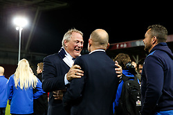 Bristol Rugby Chairman Chris Booy celebrates with Bristol Rugby Director of Rugby Andy Robinson after winning the Championship Final and promotion to the Aviva Premiership - Mandatory byline: Rogan Thomson/JMP - 25/05/2016 - RUGBY UNION - Ashton Gate Stadium - Bristol, England - Bristol Rugby v Doncaster Knights - Greene King IPA Championship Play Off FINAL 2nd Leg.