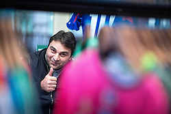 © Licensed to London News Pictures . 29/10/2018. Manchester , UK . Former Manchester City footballer GEORGI KINKLADZE signs shirts and posters and meets fans at the Classic Football Shirts shop in Barton Arcade in Manchester City Centre . Photo credit : Joel Goodman/LNP