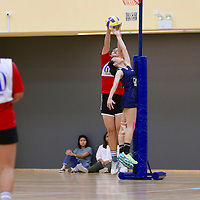 ITE (red) defeated NYP 46-37 to finish with a 2-3 win-loss record in the POL-ITE Netball Championship. (Photo © Les Tan/Red Sports)