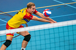 Wessel Blom #14 of Dynamo in action in the supercup semifinal between Draisma Dynamo – Active Living Orion on October, 03 2020 in Van der Knaaphal, Ede