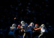 during an NFL football game between the Los Angeles Chargers and the Kansas City Chiefs, Sunday, Sept. 24, 2017, in Carson, Calif. The Chiefs defeated the Chargers, 24-10. (Ryan Kang via AP)