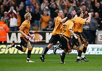 Photo: Steve Bond/Sportsbeat Images.<br />Wolverhampton Wanderers v Bristol City. Coca Cola Championship. 03/11/2007. Jay Bothroyd celebrates
