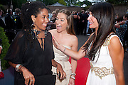 MONICA BURGOS; ELLEN RIVES; LIZZIE CUNDY; , The Grand Prix Ball, before the Formula One,<br />