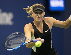September 1, 2018 - Flushing Meadows, New York, U.S - Maria Sharapova during her match against Jelena Ostapenko on Day 6 of the 2018 US Open at USTA Billie Jean King National Tennis Center on Saturday September 1, 2018 in the Flushing neighborhood of the Queens borough of New York City. Sharapova defeats Ostapenko 6-3, 6-2. (Credit Image: © Prensa Internacional via ZUMA Wire)
