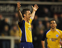Steve Howard (Leicester) celebrates his second of the night<br /> Hartlepool United vs Leicester City at Victoria Park Hartlepool Football League one<br /> 17/02/2009. Credit Colorsport / Darren Blackman