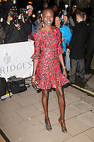 Alek Wek, Harper's Bazaar Women of the Year Awards, Claridge's Hotel, London UK, 05 November 2013, Photo by Richard Goldschmidt