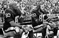 Oakland Raiders Otis Sistrunk and Art Thoms ...(1974 photo/Ron Riesterer)