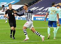 Football - 2019 / 2020 Championship - West Bromwich Albion vs Queens Park Rangers<br /> <br /> Callum Robinson of WBA celebrates their equalising goal, at the Hawthorns.<br /> <br /> Credit: COLORSPORT/ANDREW COWIE
