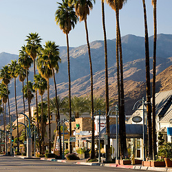 North Palm Canyon Drive in Palm Springs California USA