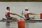 Munich, GERMANY, 2006, CAN M2- Bow Macolm Howard, Kevin Light, FISA, Rowing, World Cup,  on the Olympic Regatta Course, Munich, Fri. 26.05.2006. © Peter Spurrier/Intersport-images.com,  / Mobile +44 [0] 7973 819 551 / email images@intersport-images.com.[Mandatory Credit, Peter Spurier/ Intersport Images] Rowing Course, Olympic Regatta Rowing Course, Munich, GERMANY