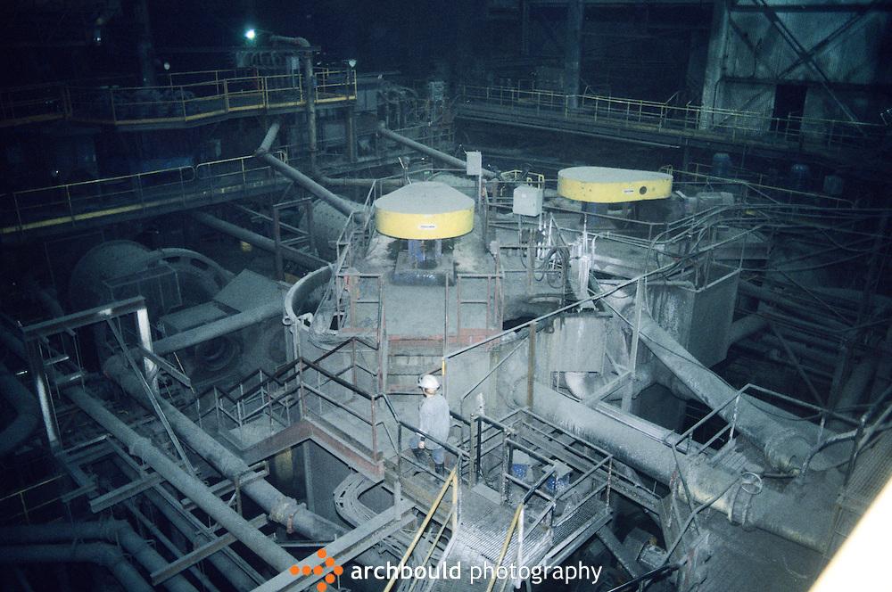 At Faro mine. Canada's largest open-pit lead-zinc mine.