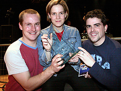 Lanconic _ Band from Mexbrough who won the Life Expo 2002 battle of the bands contest at Doncaster Dome kast night. From left to right Drummer, Lee Emmet, Vocalist, Guitar and song writer Jenny Bailey and Bass Guitar Mike Law.
