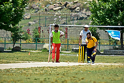 June 30, 2019 - Srinagar, J&K, India - A Kashmiri visually impaired cricket player delivers a ball during a match in Srinagar..The first ever blind cricket tournament was organized by J&K Handicapped Association and Disable People's Trust for the visually-impaired players here in Srinagar. The motive behind this tournament is to encourage players to take part in sports events and boost their morals so that they can also make a career in sports. (Credit Image: © Saqib Majeed/SOPA Images via ZUMA Wire)