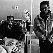 Miner silicosis diseases. Llallagua's Hospital. Bolivia.